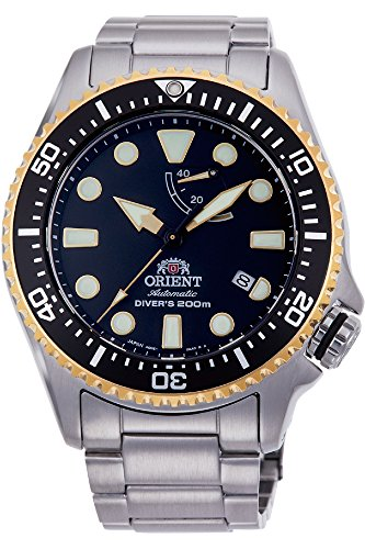 Orient Herren Analog Automatik Uhr mit Edelstahl Armband RA-EL0003B00B