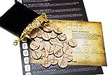 wiccan star 25 in Legno Rune celtiche Stone Set Borsa con Layout & Rune celtichecato Pergamena (in Inglese)