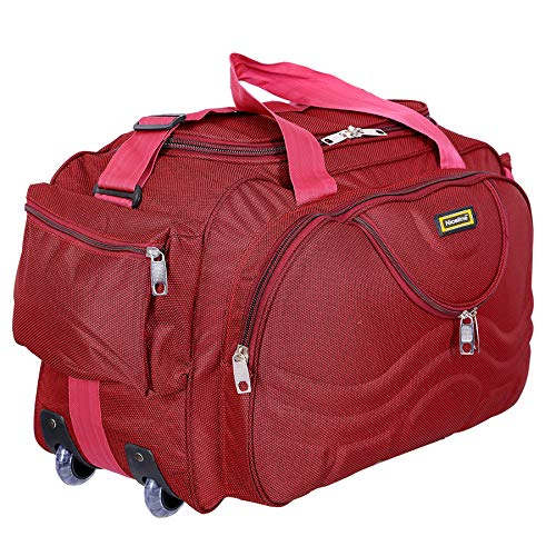 Nice Line Maroon Polyester 40 litres Inch Travel Duffle Bag/Trolley Bag/Cabin Luggage