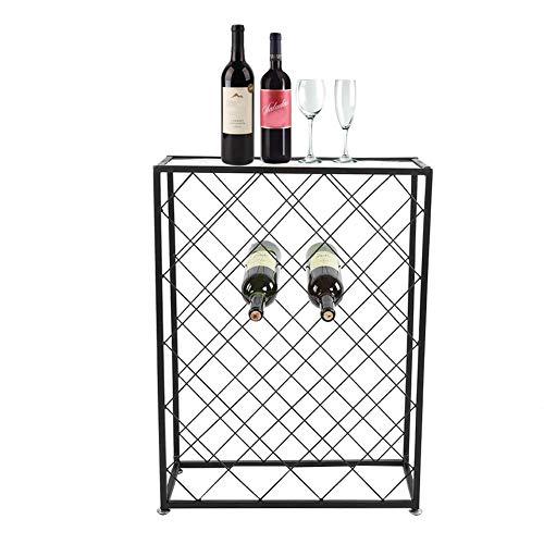 EBTOOLS Porta-Bottiglie di Vino con Vetro Tavolo,32 Posizioni,Cantinetta Portabottiglie di Vino...