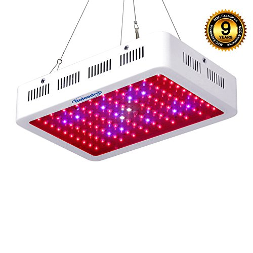 Roleadro LED Grow Light 300w Full Spectrum LED Grow Lamp with UV IR Light,Hydroponic Lights for Indoor Plants Growing Veg and Flower in Grow Box and Grow Tent 12.1*8.2*2.4 Inches