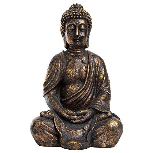 Decoración Figura de Buda Antiguo oro Efecto para casa 7b322d09390
