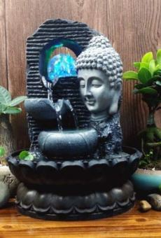 Creativo Chino Estatuas De Buda Adornos De Agua Fuente Zen Sala De Estar Suerte Decoración del Hogar Seguridad Feng Shui…