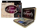 MONT MARTE Kit Caligrafia - 33 piezas - Perfecto para Principiantes - Incluye: 4x Pluma Caligrafía, 5x Plumines de Caligrafía y mucho más - Gran introducción a la Caligrafía y Handlettering