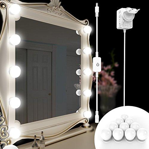 Samoleus Kit Luci da Specchio Trucco, Stile Hollywood Specchio Vanity Illuminato per Trucco...