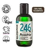 Naissance Aceite Vegetal de Rosa Mosqueta Canina BIO n. º 246 - 100ml - Puro, natural, vegano,...