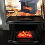 SHREVI Mini Electric Flame Heater Air Warmer PTC Ceramic Heating Stove Radiator Household Handy Fan EU Plug, Set of 1