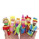 Juguetes del dedo, Koly regalo de la Navidad de las marionetas de mano 6PCS para el bebé
