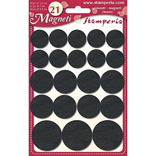 Calamite magneti medi misure miste 1,8cm/2,5cm 20pz Stamperia magnete calamita frigorifero