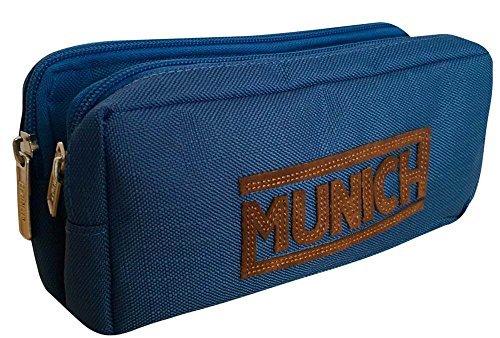 MUNICH Leather Astuccio, 21 cm, 2 litri, Blu