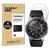 iVoler [4 Unidades] Protector de Pantalla para Samsung Galaxy Watch 46mm / Samsung Gear S3 Frontier / S3 Classic, Cristal Vidrio Templado Premium [Dureza 9H] [Anti-Arañazos] [Sin Burbujas]