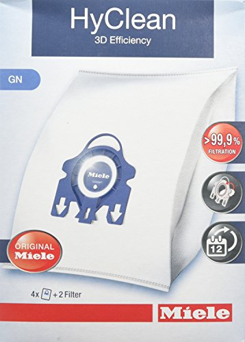 Miele GN HyClean 3D Efficiency Sacchetti per Aspirapolvere per Le Serie Classic, Complete, S2000,...