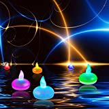 Itian Ensemble de 12 LED bougies flottantes, Couleur humeur changeante Tea Lights étanche