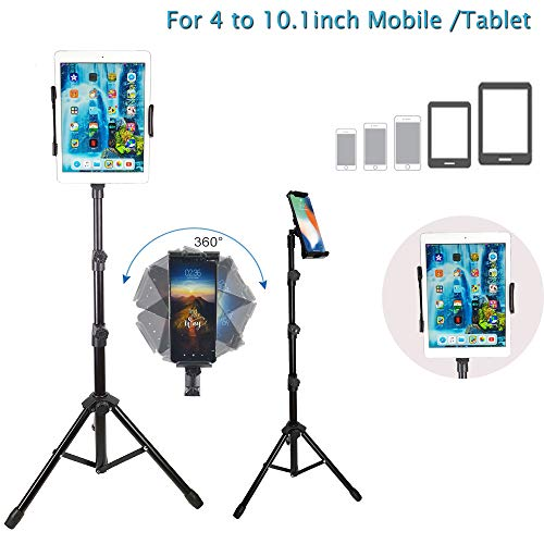 BROLAVIYA Iceberg Makers Multi-Direction Tripod Floor Stand for 4'-10.1' inch,Compatible with iPad Galaxy Ipad,Tablet, Mobile PCs