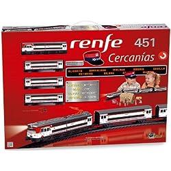 Pequetren - Renfe de cercanías 451, tren con circuito de 4.4 m (Servicios e Industrias del Juguete 685)