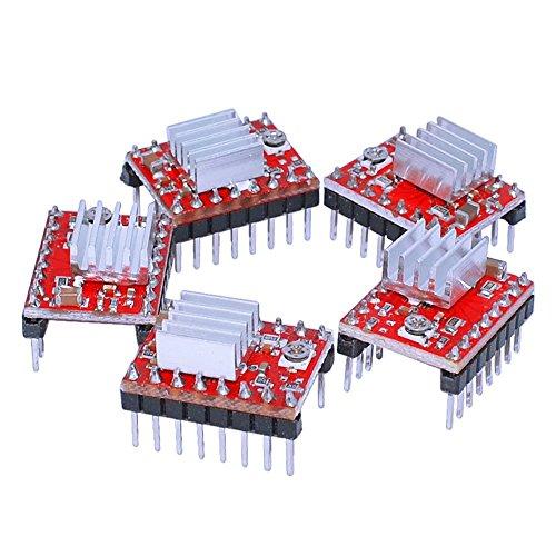 Caratteristica: 1. A4988 bordo di driver utilizzato nelle stampanti 3D e piccole macchine CNC, compatibile con rampe 1.4 Pensione 2. Semplice interfaccia di controllo di step e direction 3. Termica, protezione di sovracorrente, protezione con...