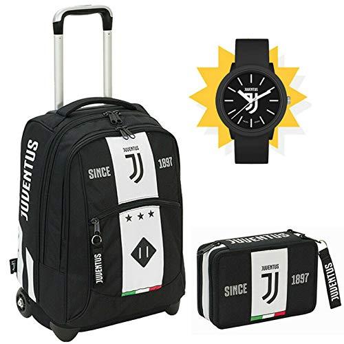 SEVEN SPA F.C. Juventus - Schoolpack Juventus League - Zaino Trolley + Astuccio 3 Zip Completo Di...