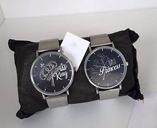 Coppia Di Orologi You And Me King & Princess Star (cinturino nero)