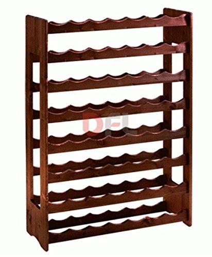 CANTINETTA 56 posti porta bottiglie In legno scuro multistrato di betulla, dimensioni cm....