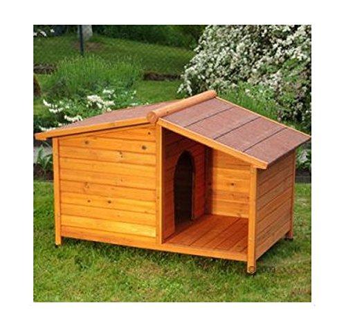 eCommerce Excellence, cuccia per cani con tetto in legno, ideale per proteggerli dalla pioggia o...