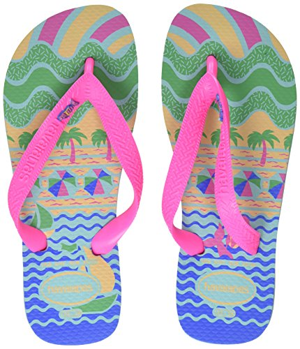 Havaianas Kids Fantasy, Infradito Unisex - Bambini, Multicolore (Ice Blue/Shocking Pink 9548), 31/32...