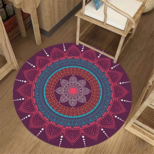 IMON LL TappetiTappeti tondi, Tappeto Multicolore Stile India Tappeto Orientale con Motivi...