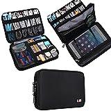 Universal Double Layer Travel Gear Organiser / Custodia da viaggio universale per dispositivi elettronici e accessori (M, Black)