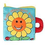Baby Badebuch Tuch Badebuch Spielzeug für Kleinkinder Blumen Zeit Badewanne Buch Muster Bad ungiftig weich schwimmende Buch