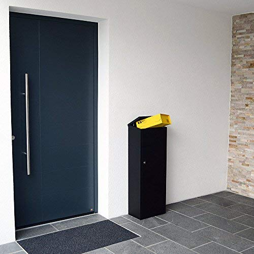 Profirst Mail PM 1100 Stand Paketbriefkasten Schwarz Briefkasten Paketfach Paketbox - 5