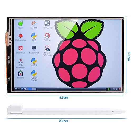 51GKTw1Ck0L - Kuman 3.5 Inches Touch Screen Display Monitor 480x320 LCD Touch Screen Kit with 16GB TF Card for Raspberry Pi 3 Model B SC06+TF