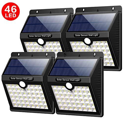 Yacikos Luce Solare Esterno, 46 LED 1800 mAh Lampada Solare con Sensore di Movimento Luci Solari...