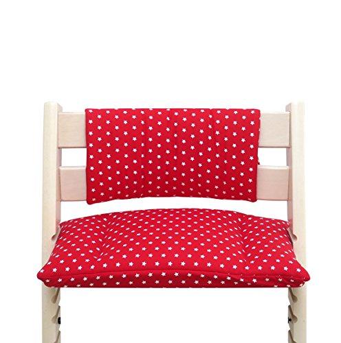 Cuscino per sedia cuscino imbottito Set Junior per Stokke Tripp Trapp Seggiolone (senza la fessura cuscino) - Rosso piccoli punti