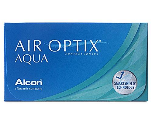 Air Optix Aqua - lenti mensile morbide, R 8.6, D 14.2, 6 pezzi, Diottrie -2.75