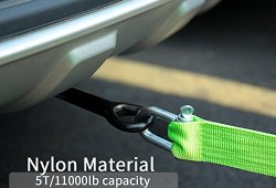 FMS 3.8m 5 Tonnes Corde de Remorquage Nylon Sangle de Remorquage avec 2 manilles de sécurité Auto Voiture 4X4 Achat