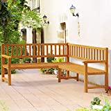 Deuba Eukalyptus Holz Gartenbank Ecke - 2