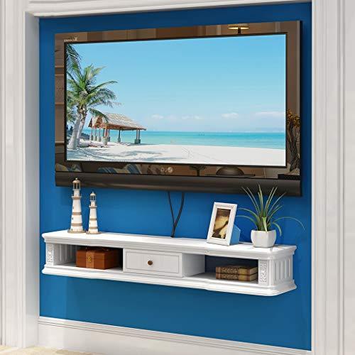 TLMY Mobile Porta TV a Muro Background Rack Aperto Cornice e cassetto Dvd satellitare TV Box Via...