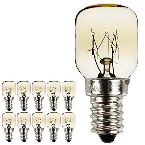 10PIECES/placcato in nichel Confezione vite E14SES, lampadina con lampadine lampade a 300gradi...