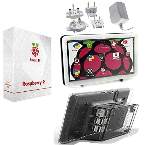 SmartPi Raspberry Pi 3touchscreen kit- 17,8cm touchscreen e custodia con ufficiali Pi 3alimentatore trasparente Transparent