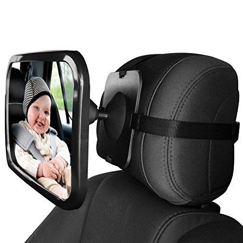 miroir r troviseur permettant de surveiller le si ge arri re pour b b 123autos. Black Bedroom Furniture Sets. Home Design Ideas