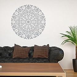 Plantillas de mandala, diseño tribal J BOUTIQUE, para decorar tú mismo las paredes, hogar moderno, plantillas decorativas., plástico, 91cm in diameter