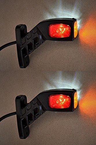 2luci LED da 12V/24V per luci di posizione laterale, per camion, rimorchio, carrozzeria,...