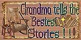 Señal–Cuentos placa para abuela, Grandma placa
