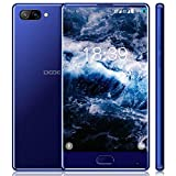 Mobile Phones Unlocked, DOOGEE MIX Dual SIM free 5.5 Inch 4G Smartphone Octa Core Helio P25 HD AMOLED, 7.0 android phone 6+64 GB with Camera Dual Rear 8.0MP + 16.0MP Front 3380 mAh-Blue