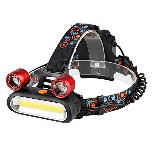 Cambiare colore del LED luce del giardino con Cont Zoomable 2000 lumen di luminosità regolabile 3 X COB proiettori a LED ricaricabile 3 modalità di campeggio esterne Luci for il faro d'escursione este