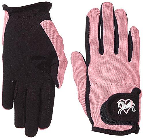 Riders Trend Damen Reiter Handschuhe Reithandschuhe Amara Palm mit Elastan-material Atmungsaktive Black/Pink CM
