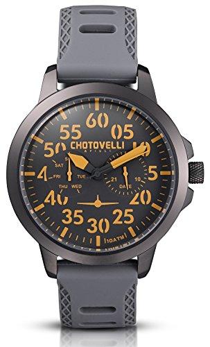 Chotovelli Aviator 3300 - Orologio da Uomo Pilota, impermeabile,45mm (33-15)