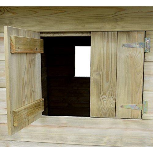 Festnight- Casetta da Esterno con 3 Finestre 204x204x184 cm in Legno