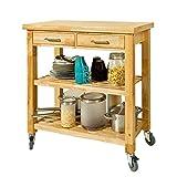 Küchenwagen aus Kautschukholz von SoBuy®