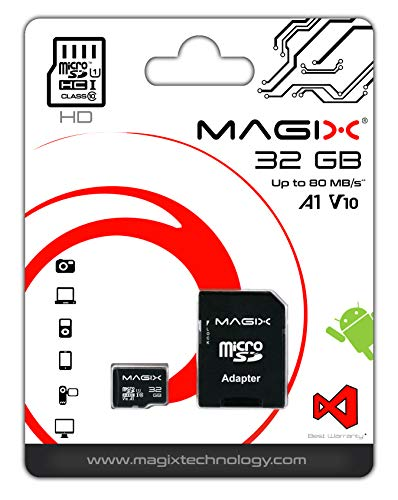 Micro SD Card MAGIX HD Series Class10 V10 + SD Adapter UP to 80MB/s (32 GB)