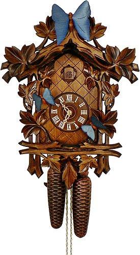 Anton Schneider Reloj cucú 13 follajes, 3 mariposas